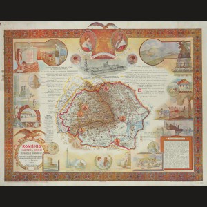 Harta 'România Ilustrată şi Istorică', cca. 1922