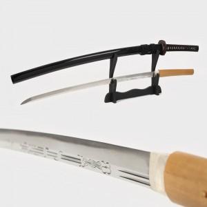 Katana Mumei, realizată de maestrul Kanenori, perioada Momoyama, anul Bunroku (1592), însoţită de certificat NBTHK