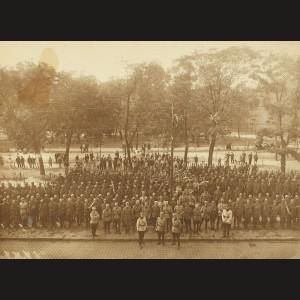 Fotografie a Armatei Române la Budapesta, 1919