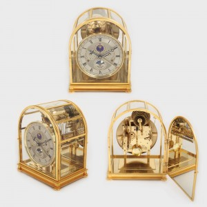 Monumental ceas în manieră Art Deco, realizat de Sewills, pentru birou, piesă de colecţie