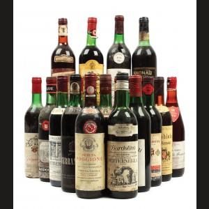Italia anilor '70, selecție de 20 vinuri roșii italienești