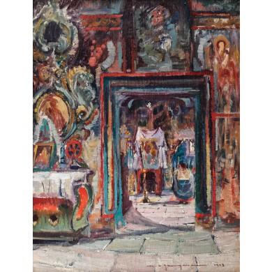 Interior de biserică românească
