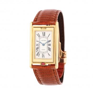 Deosebit ceas Cartier Tank Basculante, de mână, unisex, din aur, ediție limitată