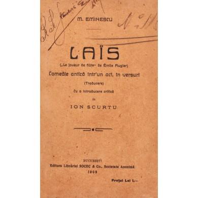 """Mihai Eminescu, """"Lais - Comedie antică într-un act, în versuri"""", ediția Scurtu, 1908, ediție princeps"""