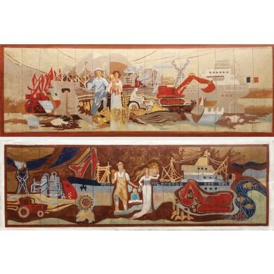 Agricultura (studii pentru proiect mural)
