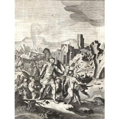 """""""Căderea Ierusalimului"""", gravură din Biblia Stern"""