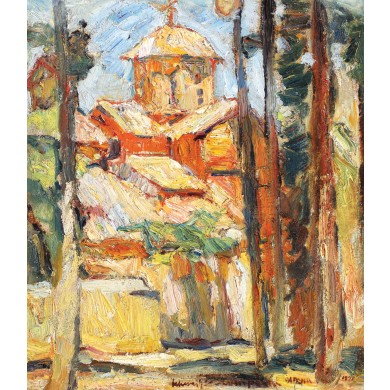 Biserică pe muntele Hymettus (Kaisariani)