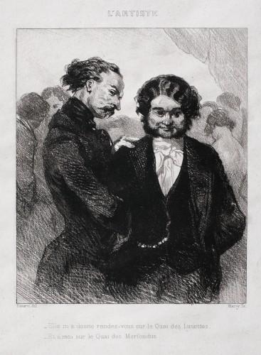 Conversație galantă (după o pictură de Paul Gavarni)