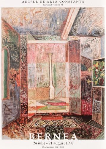 """Afişul expoziţiei """"Horia Bernea"""", Muzeul de Artă Constanţa, 1998"""