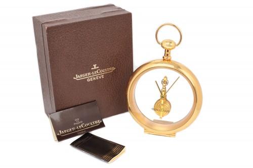 Ceas de birou, Jaeger-LeCoultre Baguette Skeleton cu întoarcere manuală, în cutie originală, cu certificat de garanţie