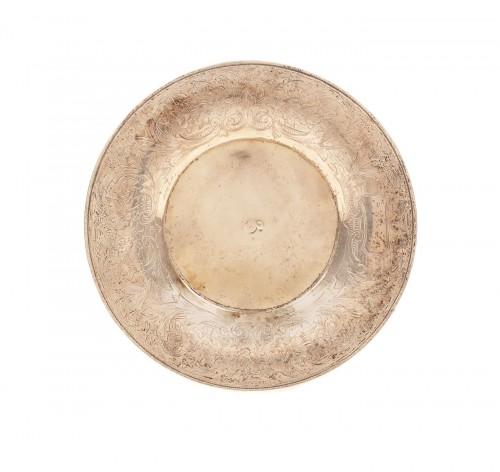 Scrumieră din argint, decorată cu motive vegetale de inspirație otomană, Turcia, sec. XIX