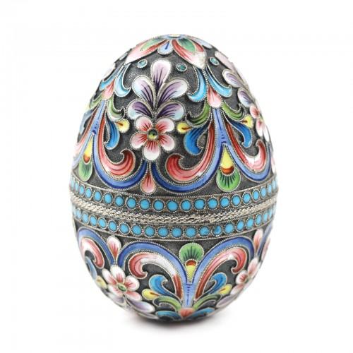 Ou din argint, meșter Maria Vasilievna Semenova, 1896-1917, piesă de colecție