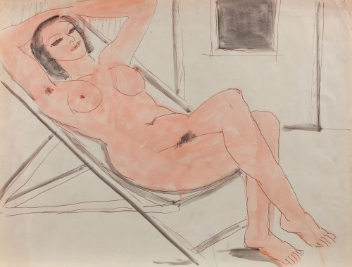 Nud pe chaisse-longue
