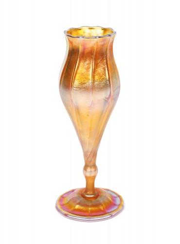 Vas Tiffany Favrile, în stil Art Nouveau, prima jumătate a sec. XX