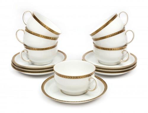 Set Thomas Bavaria pentru ceai, format din șapte cești și șapte farfurioare, cca. 1930