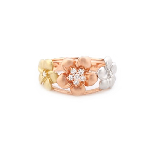 Simpatic inel din aur, ornat cu diamante