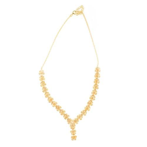 """Marigold"" - colier din argint aurit, decorat cu citrine"
