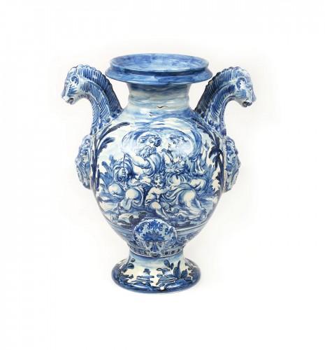 Vas pentru grădină, manieră Ulisse Cantagalli, de inspirație Neo-Renaștere italiană