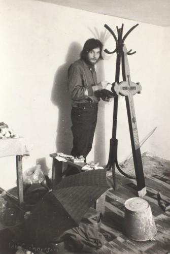 Christian Paraschiv în atelier