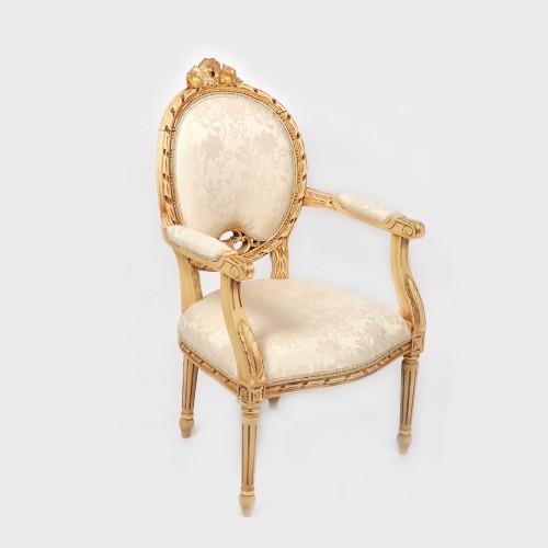 Scaun pentru birou, realizat în stil Ludovic XVI