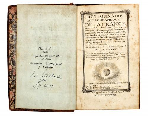 """Dicţionarul hidrografic al Franţei"", de Maurille-Antoine Moithey, Paris, 1787"