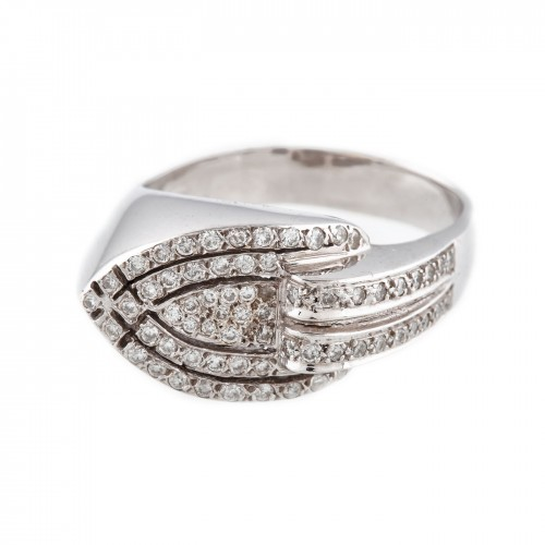Inel din aur, ornat cu diamante
