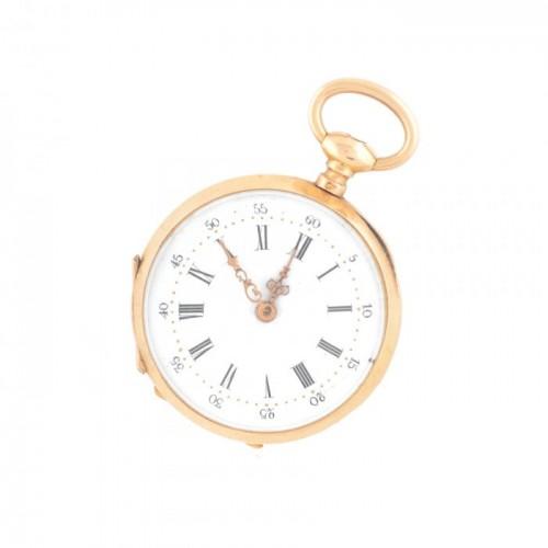 Ceas din aur, de buzunar, de damă, vine însoțit de cheie