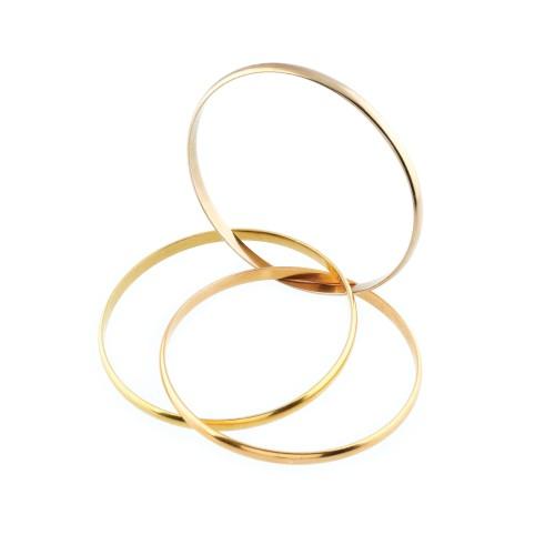 Brățară Cartier Trinity, din aur în trei culori, provine din colecția creatoarei de modă Romanița Iovan
