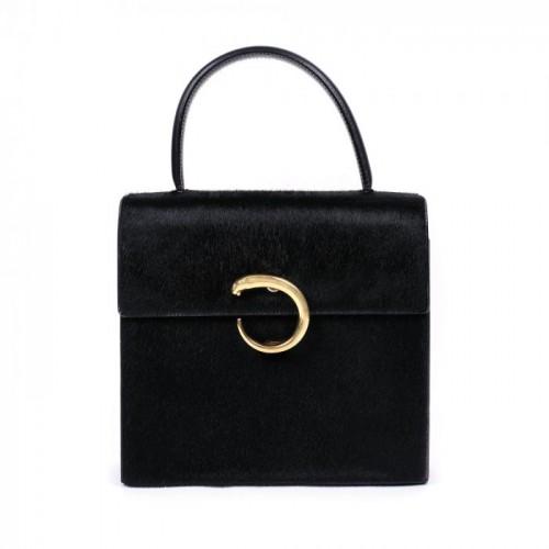 Poșetă Cartier Panthère, din blană de ponei, provine din colecția creatoarei de modă Romanița Iovan [1990]
