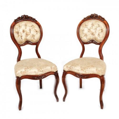 Pereche de scaune în manieră Louis Philippe, sfârșitul sec. XIX