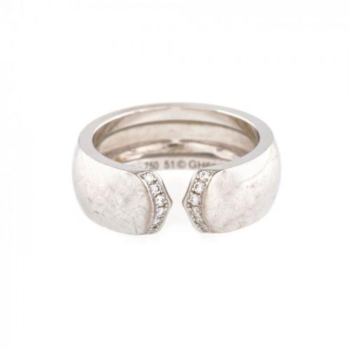 Inel Cartier din aur alb, ornat cu diamante, piesă însoțită de certificat de autenticitate
