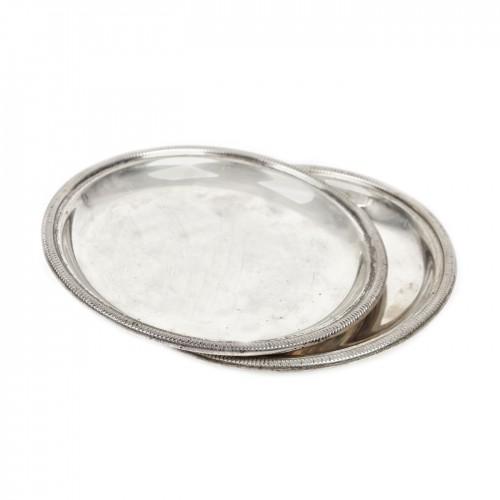 Pereche de farfurioare din argint