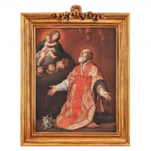 """""""Sfântul Filip rugându-se Fecioarei"""" (după Guido Reni), probabil sec. XVIII"""