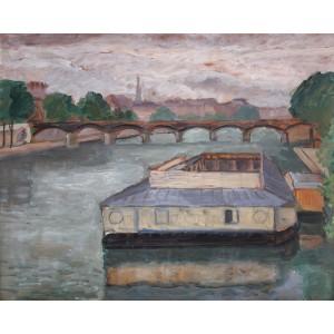 Debarcader pe Sena (spre Pont des Arts)