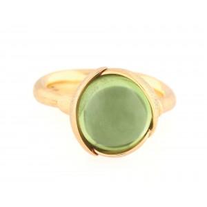 Frumos inel Ole Lynggaard din aur, decorat cu peridot