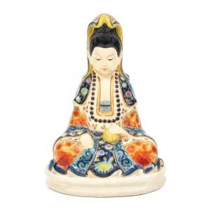 """""""Buddha"""" - statuetă din ceramică Imari, perioada Meiji"""