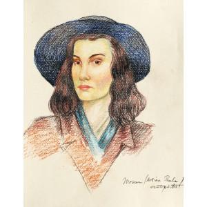 Autoportret cu pălărie