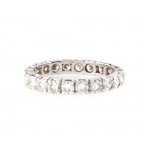 """Inel """"Infinity"""", din aur alb, decorat cu suită de diamante"""