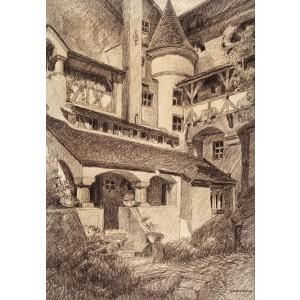 Curtea interioara a Castelului Bran