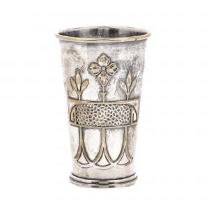 Pahar decorativ, ornat cu motive Art Nouveau