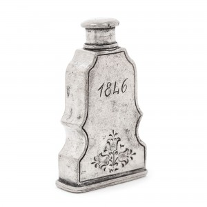 Recipient pentru parfum, din cositor, gravat 1846