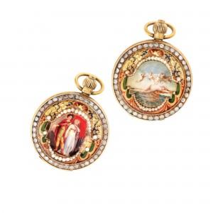 Carcasă-medalion, cu ornamentică în email de influenţă Empire