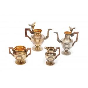 Set tête-à-tête, pentru cafea sau ceai, din argint