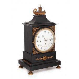 """Ceas """"Gottlieb Müller in Wien"""", în stil Empire, pentru birou, începutul sec. XIX"""