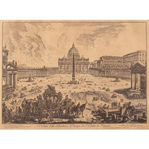 Piața Sfântul Petru din Vatican, după Piranesi