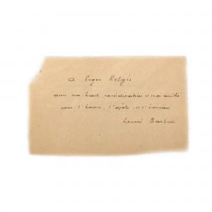 Depeșă trimisă de prozatorul francez, militant comunist și pacifist Henri Barbusse, purtând semnătura acestuia