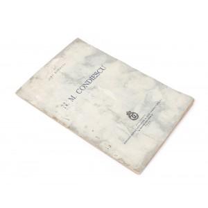 """""""N. M. Condiescu"""", de Alexandru Rosetti, Bucureşti, 1939, cu semnătura olografă a autorului"""