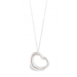 Pandantiv și lanț Tiffany, din argint, în formă de inimă