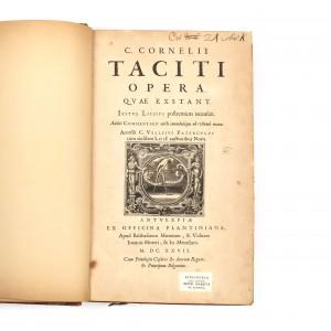 """""""Opera"""", de Cornelius Tacitus, ediţia întocmită de Iustus Lipsius, Anvers, 1627"""