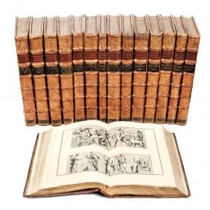 """""""Antichitatea explicată şi ilustrată"""", de Bernard de Montfaucon, Paris, 1719-1724, 10 volume şi 5 suplimente, cuprind 1387 de gravuri de epocă"""